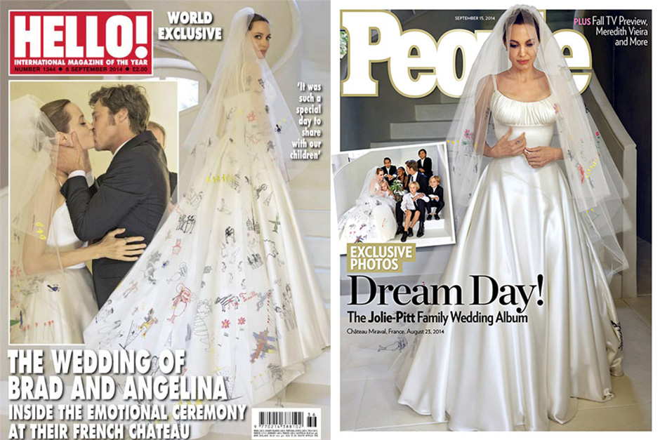Cover Brad and Angelina Wedding